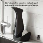 """UMBRA Сензорен диспенсър за сапун с отделение за гъба / тел """"OTTO"""" - цвят черен/тъмно сив"""