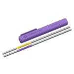 """ASOBU Сламки за многократна употреба """"ЕCO FRIENDLY REUSABLE STRAWS PS2""""- цвят лилав/жълт"""