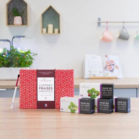 Подаръчен сет VERITABLE STRAWBERRIES с 4 бр. пълнители и четчица за опрашване
