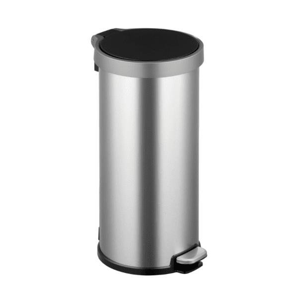 Кош за отпадъци EKO ARIA с педал (35 л) - хром мат с черно
