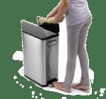 "EKO EUROPE Кош за отпадъци с педал ""ECOFLY"" - матиран - 30 л."
