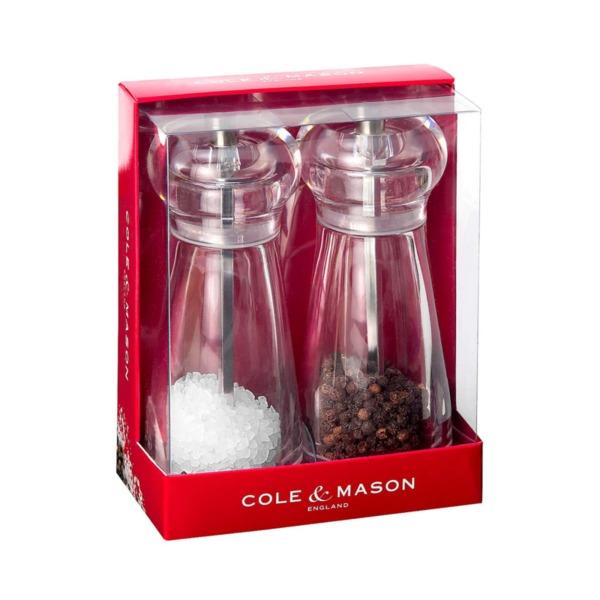Комплект мелнички за сол и пипер COLE & MASON LANCING с механизъм за прецизност - 14 см