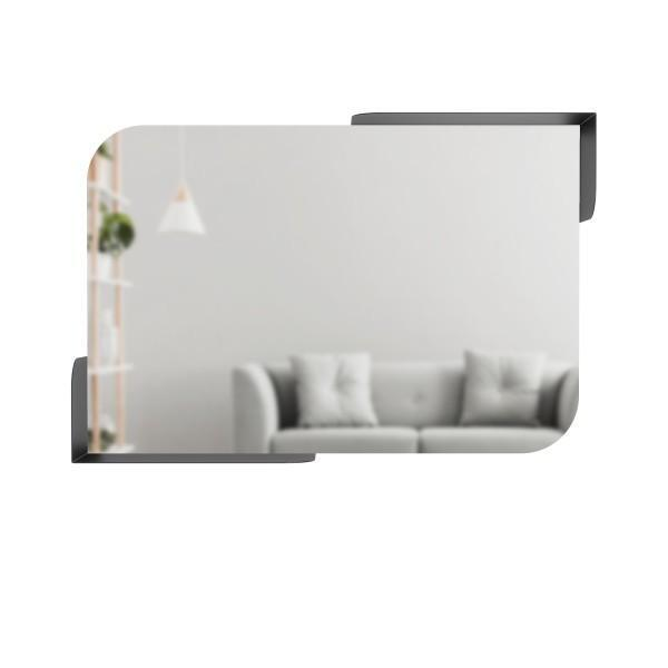 Огледало за стена UMBRA ALCOVE с рафтове - цвят черен