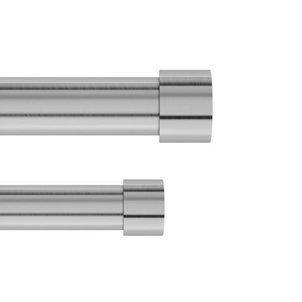 Двоен корниз за пердета и завеси UMBRA CAPPA никелиран - размер 91-167 см