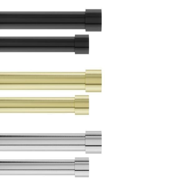 Двоен корниз за пердета и завеси UMBRA CAPPA никелиран - размер 167-304 см