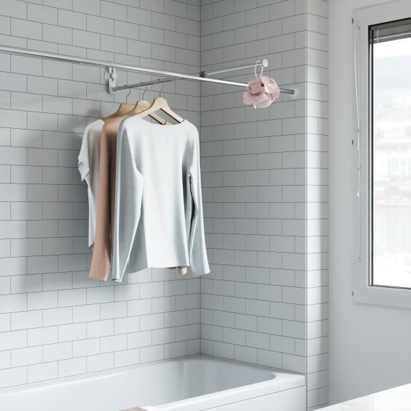 Поставка за кърпи (простор за баня) UMBRA SURE-LOCK - цвят хром