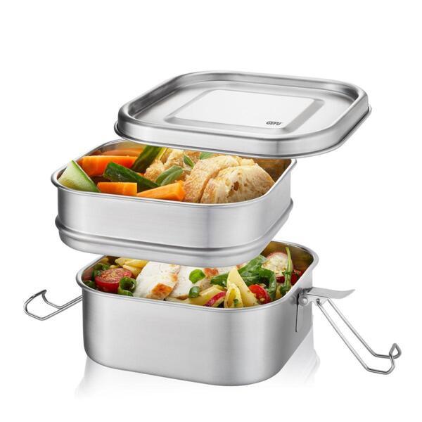 Стоманена кутия за храна GEFU ENDURE двойна