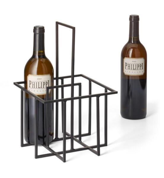 Стойка (кошница) за вино PHILIPPI CUBO - черна