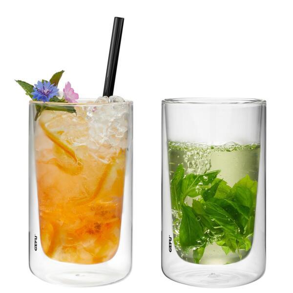 Комплект от 2 бр. двустенни стъклени чаши GEFU MIRA - 350 мл