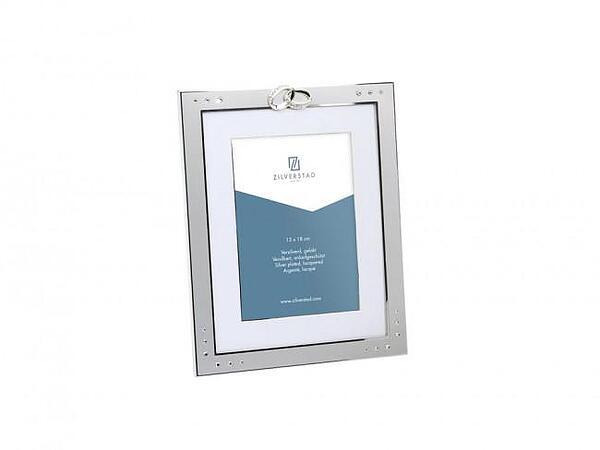 Рамка за снимки ZILVERSTAD Double Rings със сребърно покритие - 13 х 18 см