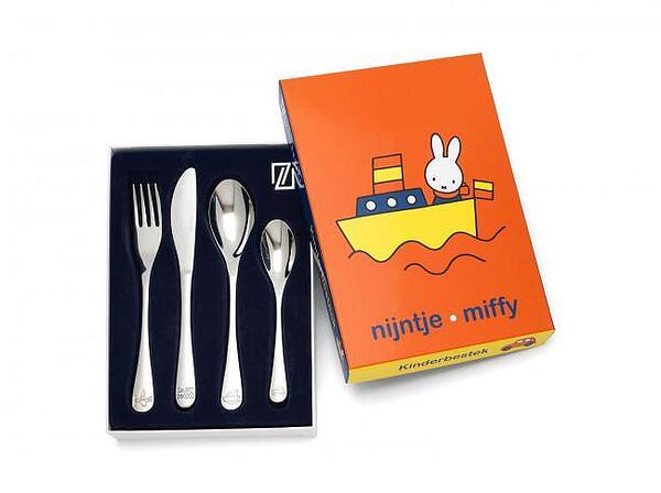 Комплект стоманени детски прибори за хранене ZILVERSTAD MIFFY от 4 части