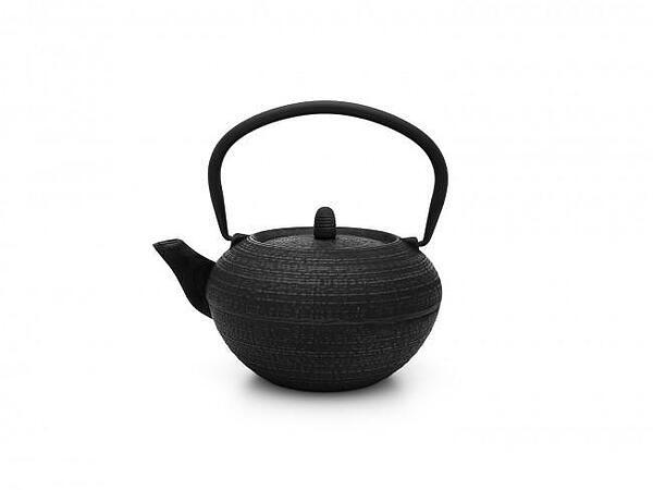 Чугунен чайник BREDEMEIJER TIBET с филтър - 1.2 л  - черен