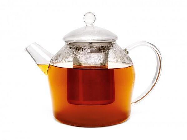 Стъклен чайник BREDEMEIJER MINUET със стоманен инфузер - 1.2 л