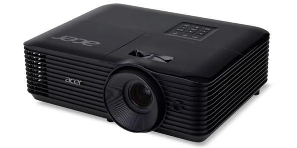 Acer Projector X128HP, DLP, XGA (1024x768), 4000 ANSI Lumens, 20000:1, 3D, HDMI, VGA, RCA, Audio in, DC Out (5V/2A, USB-A), Speaker 3W, Bluelight Shield, LumiSense, 2.8kg, Black