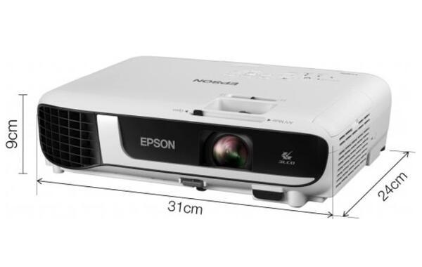 Epson EB-X51, XGA (1024 x 768, 4:3), 3 800 ANSI lumens, 16 000:1, VGA, HDMI, USB, WLAN (optional), Speakers, 24 months, Lamp: 12 months or 1 000 h, White