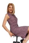 Шарена рокля с А силует