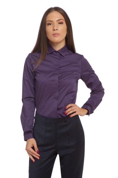 Вталена риза с кадифена лента