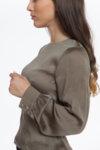 Вталена копринена блуза