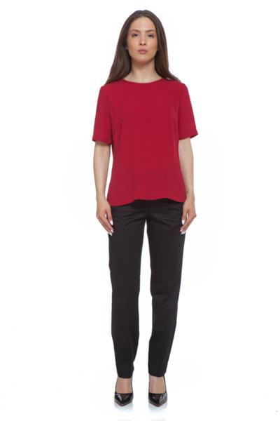 Червена блуза с къс ръкав