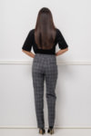 Кариран сив панталон
