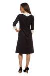 Черна рокля с ¾ ръкав