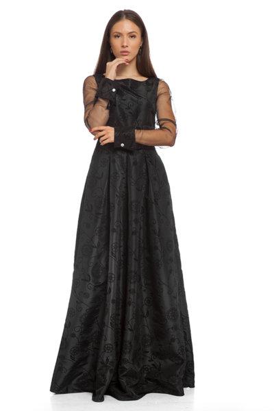 Дълга черна рокля