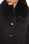 Кашмирено палто с яка от лисица