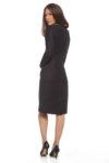 Тъмносиня рокля с дълъг ръкав