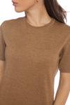 Блуза карамел къс ръкав