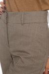 Класически панталон на бежово-черен пепит