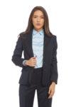 Вталено сако с черна обазовка