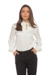 Копринена блуза с подвижна панделка