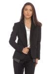Вталено черно сако с детайли