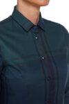 Синьо-зелена риза каре