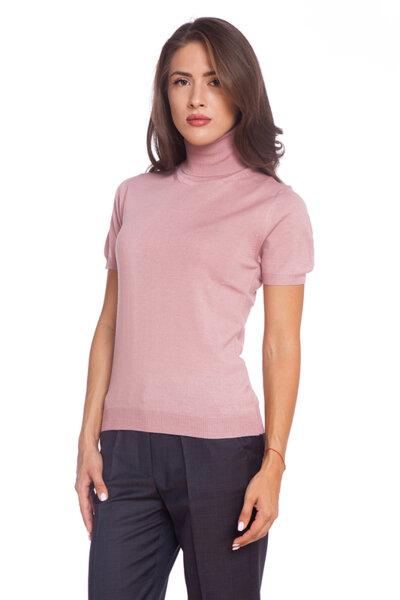 Розово поло с къс ръкав