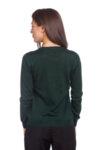 Зелена блуза с дълъг ръкав