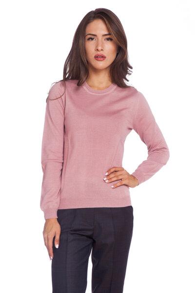Розова блуза с дълъг ръкав