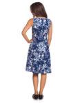 Разкроена синя рокля на цветя