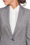 Карирано сако със синя нишка