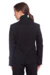 Черно сако от жоржет