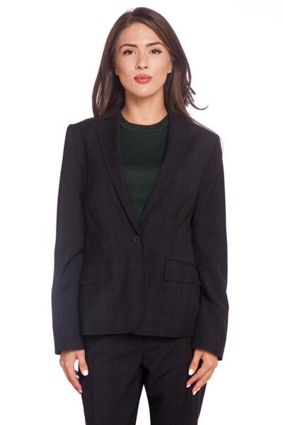 Черно сако на сиво каре