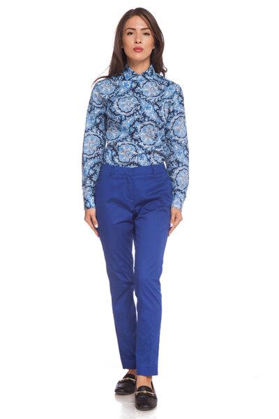 Памучен панталон в кралско синьо