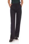 Черен панталон с маншет