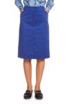 Ярко синя памучна пола