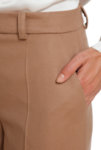 Бежов вълнен широк панталон
