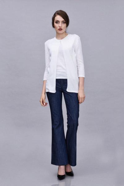Бяла жилетка от памук