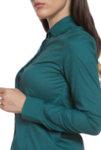 Вталена зелена риза