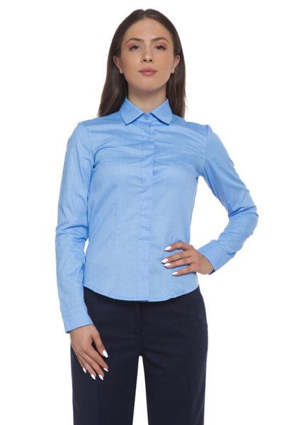Вталена синя риза