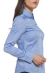 Вталена синя риза на структура
