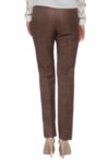 Кариран кафяв класически панталон